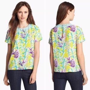 Kate Spade Roslyn Top Silk Lace Floral